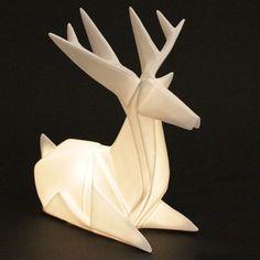 Inspired by Nature: Luminous Modern Origami Reindeer Table Lamp   NOVA68 Modern Design