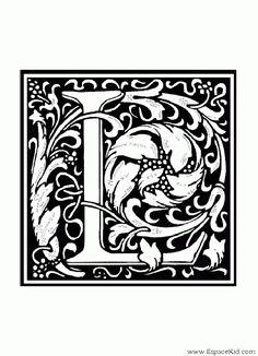 Coloriage Lettre L : coloriages Lettrine