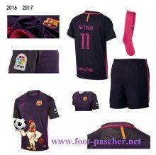 la liga: Maillots FC Barcelone Pourpre Enfant Kits (NEYMAR JR 11) Exterieur 2016…