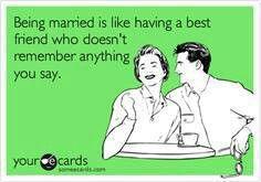 Marriage humor.