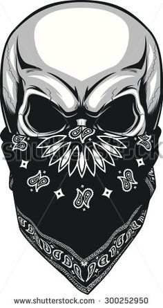 Illustration about Vector illustration, skull bandana on a white background. Illustration of evil, bandana, frightening - 57169645 Skull Tattoo Design, Skull Design, Skull Tattoos, Body Art Tattoos, Tattoo Drawings, Tattoo Designs, Cool Skull Drawings, Biker Tattoos, Bandana Tattoo
