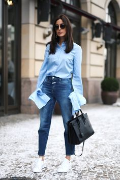 A Casual Take On The Button-Down With Extra-Long Sleeves