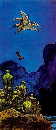 Arzach, by Moebius Rest in Peace, grand master. Jean Giraud Moebius, Moebius Art, Comic Book Artists, Comic Artist, Moebius Comics, Dcc Rpg, Science Fiction, Illustration Art, Graphic Novels