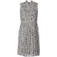 Miu Miu Short Dress ($1,180) ❤ liked on Polyvore featuring dresses, dark  blue