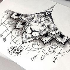 linework lion mandala | Katya Slonenko | Flickr