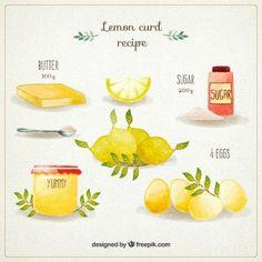Receta de crema de limón pintada a mano