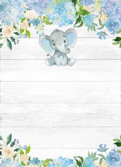Baby Elephant Baby Shower Invitation - Blue and Gray Baby Shower Baby Boy Shower - Custom Diaper Die Cut Invitation Birdie theme unisex baby shower invitationDelicate birds for a feast full of love, a sweet Invitation Baby Shower, Baby Shower Invitations For Boys, Baby Shower Themes, Baby Boy Shower, Shower Ideas, Elephant Bleu, Baby Elephant, Elephant Theme, Baby Shower Background