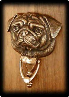 Pug Door Knocker Fine Art Cast Bronze signed and numbered Pug Art. Pug Door Knocker Fine Art Cast Bronze signed and numbered Amor Pug, Fu Dog, Knobs And Knockers, Door Knobs, Door Handles, Cute Pugs, Funny Pugs, Vintage Art Prints, Pug Love