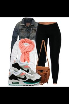 My kind of outfit... Comfy & sporty but still girly
