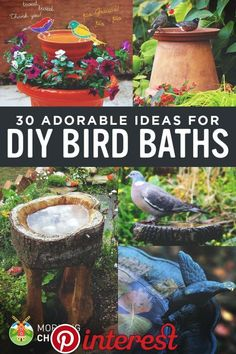 Do you want to attract birds to your garden? Why not provide them a space to bath? Here are 30 DIY bird bath ideas that will make a fun family project. diy garden ideas 30 Adorable DIY Bird Bath Ideas That Are Easy and Fun to Build Diy Garden Projects, Garden Crafts, Garden Art, Diy Crafts, Garden Junk, Garden Totems, Garden Whimsy, Yard Art Crafts, Teen Projects