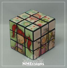 Scrap-a-licious-times: Mo Manning Rubik's Cube and Box.