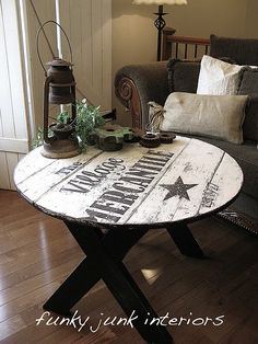 signed table- instructions included - cute for patio - though I don't have the right kind of equipment to experiment with this idea. I'm still pinning it for a future F.Y.I.