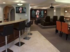 Modern Basement Design. Let me be YOUR Realtor!  For more Home Decorating…