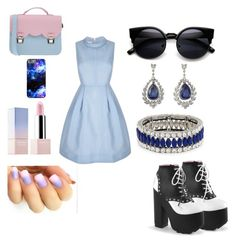 Cute but badass by madsha on Polyvore featuring polyvore, fashion, style, Demonia, La Cartella, Kenneth Jay Lane, Sephora Collection, women's clothing, women's fashion, women, female, woman, misses and juniors