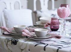 Fab Forty Something: Runsas ja romanttinen kattaus Pentikin tuotteilla Spring Home, Summer Garden, Peonies, Colours, Decorations, Tableware, Kitchen, Pattern, Design