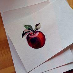Apple Watercolor Tattoo - Sasha Unisex