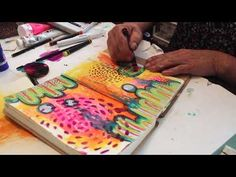It's The Process That Matters | Art Journal Time Lapse | Lisa Oxley - YouTube