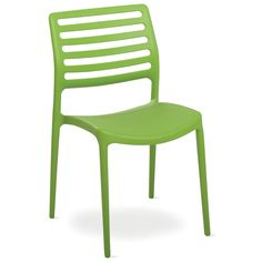 The Sawyer Dining Chair is made from fiberglass-enriched polypropylene. They are available in a variety of colors and a matching armchair is also available.