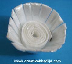 egg carton flower making