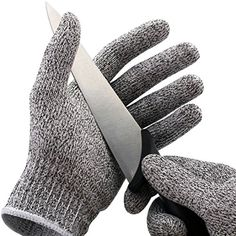Ekarro Brand No Cry Cut Resistant Gloves - High Performance Level 5 Protection, Food Grade. One Size
