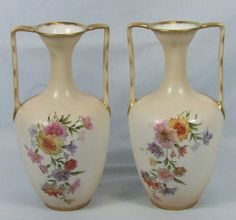 R C Bavaria vase pair. Floral Theme, Old Ones, Bavaria, Vase, Artist, Diy, Home Decor, Decoration Home, Bricolage