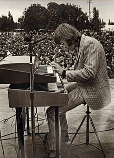 Ray Manzarek, Nothern California Rock Festival, 1968.