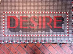 French Quarter, New Orleans. Photo by Nick Sherman. #shadowtype #sign #tiles