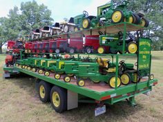Many of John Deere pedal tractors can be seen here
