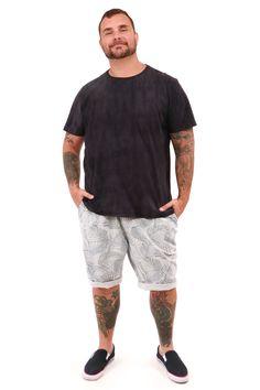 Bermuda e t.shirt plus Masculina
