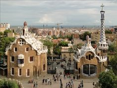 The Park Güell is an open park framework made out of greenery enclosures and architectonic components situated on Carmel Hill, in Barcelona.