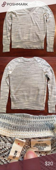 Anthropologie Moth light weight sweater. Anthropologie Moth light weight sweater. Grey/ivory colors. EUC Anthropologie Tops