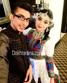#afghan #couple #style #national #dress