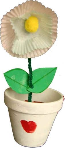 Muffin Flower Pot Craft. To cute  i think we will make these as mother's day gift for the grandma's!