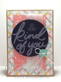 Thank you card using new stampset Big On You from Stampin' Up! Occasions Catalogue, Best Year Ever Sale-A-Bration Designer Series paper and Accessories Pack plus NEW White Jute Ribbon