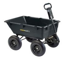 Gorilla Carts Dump Cart Heavy Duty Garden Lawn Mower 2-in-1 Convertible Handle  #Gorilla
