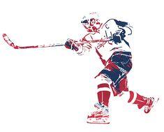 Washington Capitals Hockey, Alexander Ovechkin, Joe Hamilton, Pixel Art, Nhl, Balls, Watercolor, Game, Wall Art