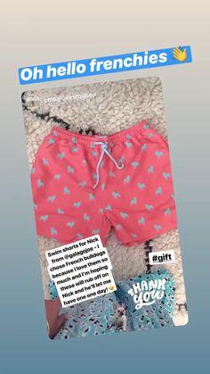 Spotted on insta Beachwear, Swimwear, Toddler Fashion, Swim Shorts, Charity, French Bulldog, Swimming, Mens Fashion, Swim