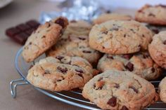 testé super recette cookies croustillant, sablé chocolat au lait et chocolat blanc