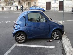 teeny tiny cars.... But never any car crashes. Weird. They are safe drivers!