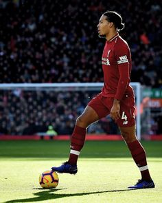 Image may contain: 1 person Football Liverpool, Liverpool Anfield, Liverpool Players, Liverpool Fc Wallpaper, Liverpool Wallpapers, This Is Anfield, Virgil Van Dijk, You'll Never Walk Alone, Uefa Champions League