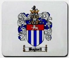 Bagwell Family Shield / Coat of Arms Mouse Pad $11.99