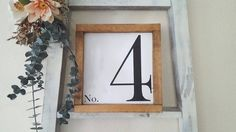 Family number wood framed sign by HomeofTreChic on Etsy https://www.etsy.com/listing/481922981/family-number-wood-framed-sign