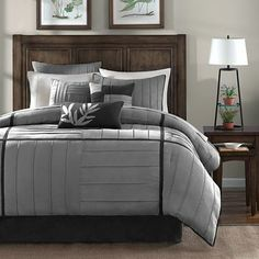 Dune 7-pc. Comforter Set - jcpenney  love the gray and black...would pair it with turquoise or yellow sheets