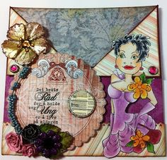 A card with Loralie Design, totally love these ladies.