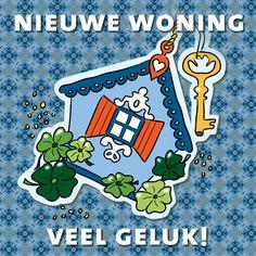Wenskaart Sleutel naar geluk! - patroon, verkrijgbaar bij #kaartje2go voor €