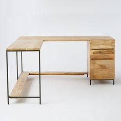 Rustic Modular Desk Set | West Elm