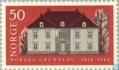 Stamps - Norway - 50 Brown 1964