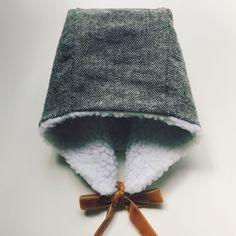 Image of Winter Bonnet - Slate Herringbone