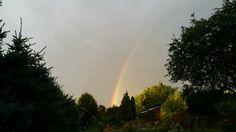 Double rainbow over our cottage