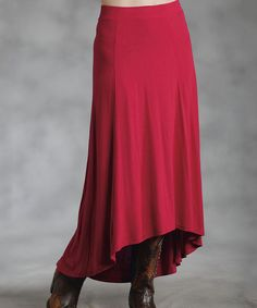Maroon Hi-Low Skirt - Women & Plus   Daily deals for moms, babies and kids
